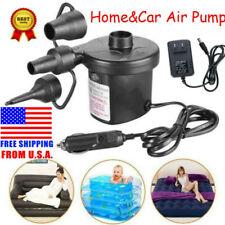 3 Nozz Electric Air Pump Quick-fill Portable Inflator Deflator Air Mattress Pump