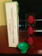Avon Nature's Fresh Petite Pinecone Candles with Metal Holder - Set of 3 - 1983
