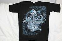 ALWAYS DREAMING DAY OF THE DEAD MUERTOS LADY TATTOO SKULL T-SHIRT