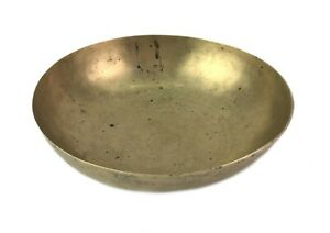 Old Bronze Indian Kitchen Utility Bowl Nice Chakra Healing Antique Bowl G27-201