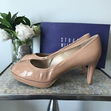 Stuart weitzman Size uk 8 42 peep toe nude work office business career patent