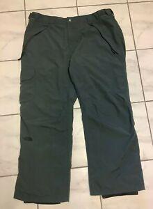 The North Face Men's Hyvent Ski Snow Pants Size XXL Gray Zip Pockets
