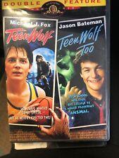 Teen Wolf & Teen Wolf Too Double Feature Dvd Movie Michael J. Fox, *Rare opp