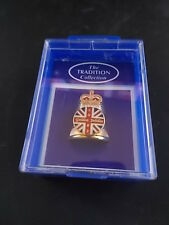 Boxed Enamel & Pewter Thimble 2002 GOLDEN JUBILEE Commemorative Royalty in Box