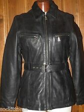 Oakwood Classics Womens Leather Motorcycle Jacket coat size Medium