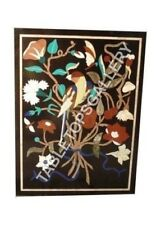 3'x2' Marble Dining Table Top Floral Marquetry Arts Inlaid Hallway Decor E478