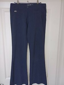 Face Off women's slacks pants navy blue, size 12, rayon/polyester, as new