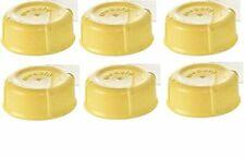6 Medela Solid Lids - Yellow solid cap bottle lid for Medela Bottles