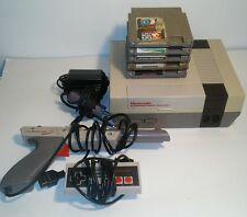 Nintendo nes console lot with zapper Controller & 5x games Mario bros Excitebike