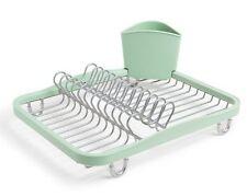 UMBRA SINKIN DISH RACK In-Sink Drainer Tray Wire Dishrack Tidy MINT Green NICKEL