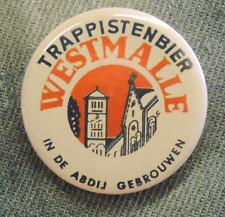 Pin Button Badge Ø38mm  Trappistenbier WESTMALLE (bière) 3