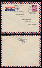 MALAYA JOHORE 1952 FORCES AIRMAIL SEGAMAT 10c to ANNAN SCOTLAND