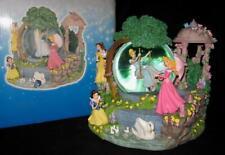 Disney Princess Enchanted Garden Musical Snow Globe Cinderella Belle Snow White