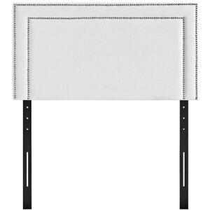 Modway Jessamine Twin Faux Leather  Headboard Only. White. MOD-5373-WHI