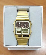 BRAND NEW VINTAGE CITIZEN LCD ANA DIGI TEMP, GOLD PLATED, 1980, Limited Quantity