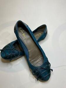 Cole Haan  Ballerina Suede Leather Ballet Flat Shoe 10! NATNESS