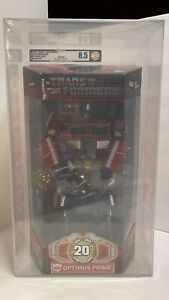 2004 Hasbro Transformers 20th Anniversary Optimus Prime  AFA 85 Masterpiece NEW