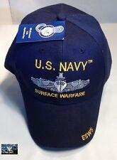 US Navy Surface Warfare Ball Cap ESWS USN Veteran CVN CG DDG FF LPD LHA LHD Hat