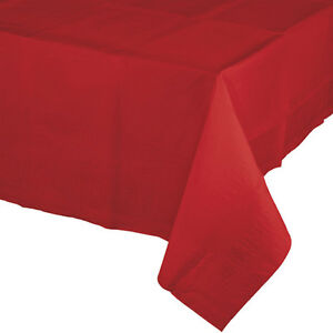 RED CHRISTMAS VALENTINE'S DAY BIRTHDAY 2x PARTY PAPER TABLECLOTH TABLE COVER!