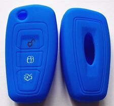 BLUE SILICONE CAR FLIP KEY COVER SUIT FORD RANGER FOCUS FIESTA MONDEO 2012 2013