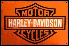 Harley Davidson  Motorcycles  Enamel & Galvanized Steel Metal Sign