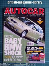 Autocar 26/9/2001 Mercedes SL500 Maserati Spider Honda Civic Type-R Cherokee 3.7