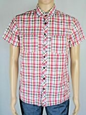 """Red check casual short sleeve Shirt LEVI'S L 38"""" chest"""
