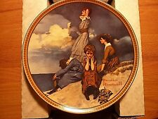Edwin Knowles China Norman Rockwell Plate 1981 Waiting on the Shore New Boxed
