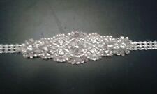 "Bridal Belt Diamanté 28"" Waist Extends to 43"""