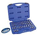 "Cornwell Tools Blue Power CBP1KIT 1/4"" Drive 6 Point 46 pc Socket Set"