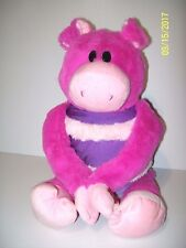 "MUSHABELLY ZOE PIG PLUSH 20"" MICRO BEADS PRESS HAND MAKES OINKING SOUNDS"