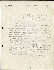 █ Facture 1925 Paul DUFOUR Ingénieur E.S.E. à Belfort (90) 4 faubourg de Paris █