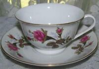 Vintage Bone China CUP & SAUCER Roses