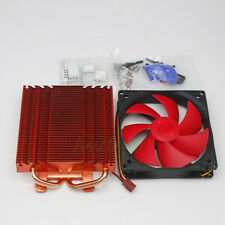 NVIDIA ATI VGA Video Card Cooling Heatsink Radiator w/100mm Fan 2x 6mm Heatpipe