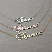 Name Necklace Custom Nameplate Pendant Jewelry Personalized Gift for her