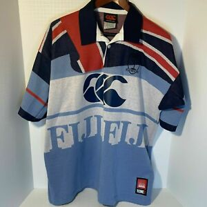 2002 Fiji Rugby TEMEX Jersey - Vintage - Retro *RARE Player Issue Sevens Jersey*