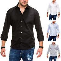 Otto Kern Herren Langarmhemd Businesshemd Hemd Classic Unifarben Mix NEU SALE %