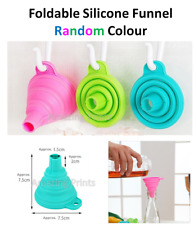 Collapsible Silicone Funnel for reusable baby food pouch squeeze pouches Bags