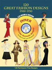 120 Great Fashion Designs, 1900-1950 Dover Electronic Clip Art CD-ROM and Boo