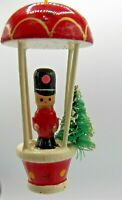 Toy Soldier Wooden Christmas Ornament Guard Uniform Bottle Brush Tree Taiwan ROC