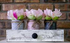 Shabby Chic 3 Mason Jars; Flowers and Box Great Gift Idea