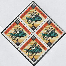 Ireland - Thomond 4103 - 1969 PRINCE of WALES INVESTITURE on 2s6d block of 4 u/m