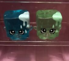 Shopkins Season 1 Blue and Green Cube VHTF