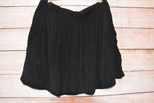 SPORTSGIRL Skirt Sz 10 Medium black exposed zip A line skirt