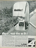 PUBLICITÉ DE PRESSE 1964 RENAULT 4 ALLEZ-Y VOUS ÊTES EN R4 - ADVERTISING
