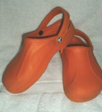 Crocs ladies/men's Pumpkin slip on shoes, M 8, W 10  waterproof