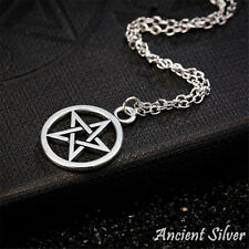 Men Religious Fashion Lucifer Satan Sign Retro Necklace Pentagram Pendant