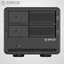 ORICO Aluminum Dual Bay USB 3.0 3.5 Inch SATA Hard Drive HDD Enclosure Array Box