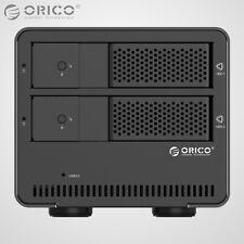 ORICO Aluminum Dual Bay USB 3.0 3.5 Inch SATA Hard Drive HDD Enclosure Array Box