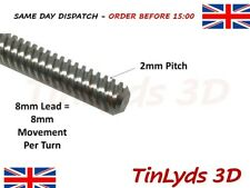 8mm Lead T8 3D Printer Lead Screw Rod Z Axis Linear Shaft 2mm Pitch CNC